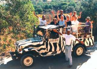 This is the jeep that my wife and I were in, (That's me, back row, centre)